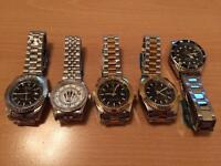 Collection of five new quartz watches