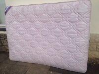 Double mattress - 4'6 , clean ,