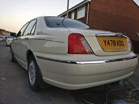 Rover 75 2.5 V6 in rare white colour!