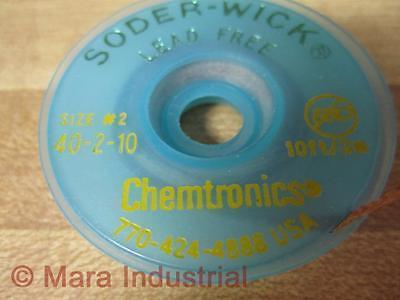 Chemtronics 40-2-10 Braided Soder-wick 40210
