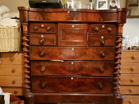 Victorian scottish mahogany chest of drawers