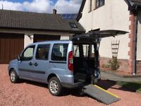 2008 Fiat Doblo 1.4 petrol Growrings wheelchair access disabled mobility vehicle