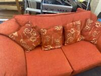 3 seater sofa / settee with cushions can deliver