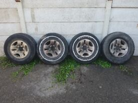 Alloy wheels, off mk11 pajero/shogun