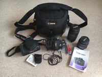 Canon Digital SLR EOS 500D Camera Body, 2 Lenses, Remote Control and Bag