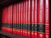 Complete set of Children's Encyclopaedia Britannica in pristine condition