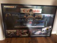 Formula one framed poster