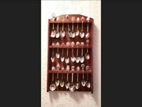 decorative spoons (rack included)