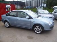 Ford FOCUS Titanium,4 dr saloon,2 keys,half leather interior,clean tidy car,runs and drives nicely