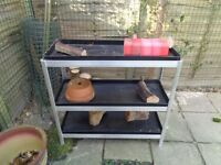 Greenhouse staging/shelving unit