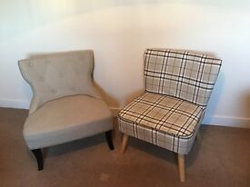 Two lovely armchairs - less than 1 year old - £50 each or £90 for pair