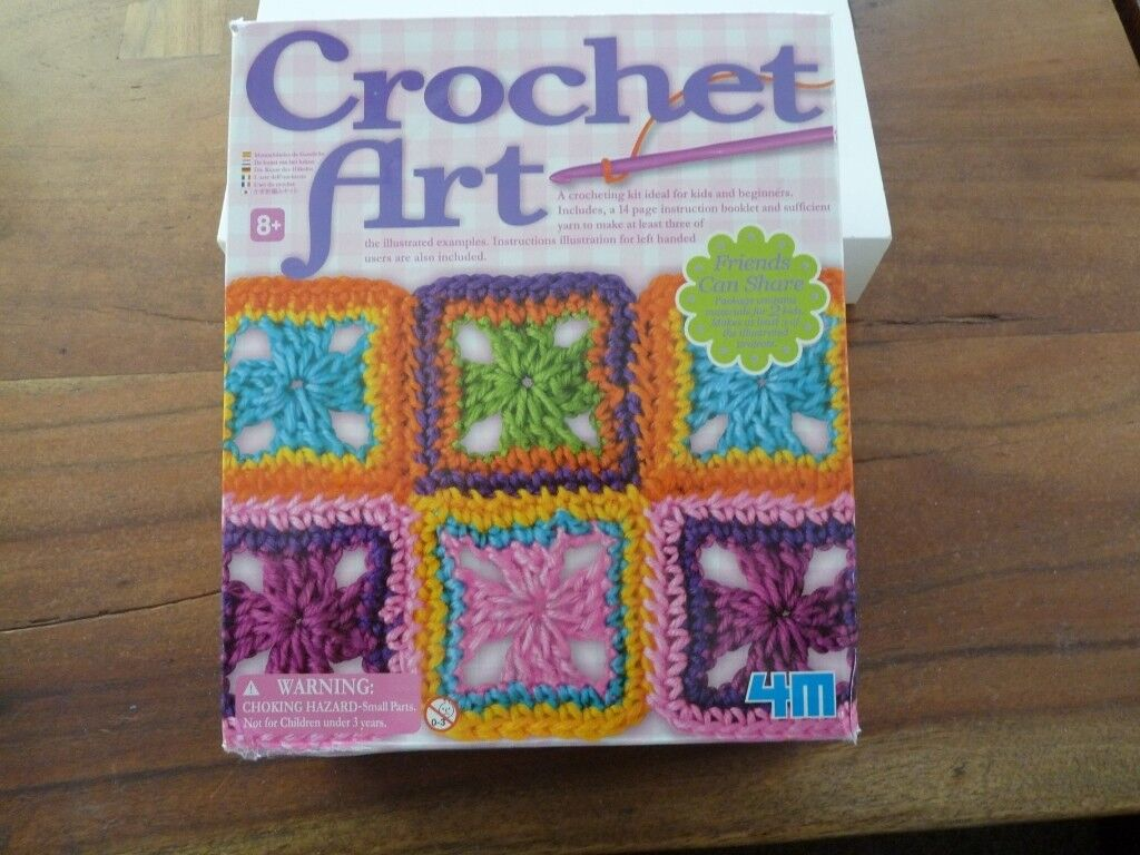 4m Crochet Art Kit Ideal For Kids Beginners New In Box In Newhaven