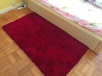 *Second Hand Soft Thick Wine Red Rug 80cmx150cm