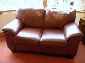 LEATHER SOFAS ------- 3 & 2 SEATER ------ From John Peters Furnishers ---------------------