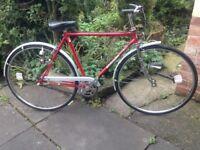 """Vintage retro Centurion 3 speed Town/Road bike,54cm frame,26"""" wheels,chrome forks,front/rear lights"""