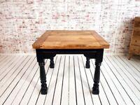 Extending Rustic Farmhouse Dining Table Drop Leaf Painted Finish - Folding, Ergonomic, Space Saving