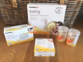 Medela Swing single breast pump PLUS EXTRAS