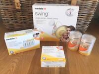 Medela Swing single breast pump PLUS EXTRAS