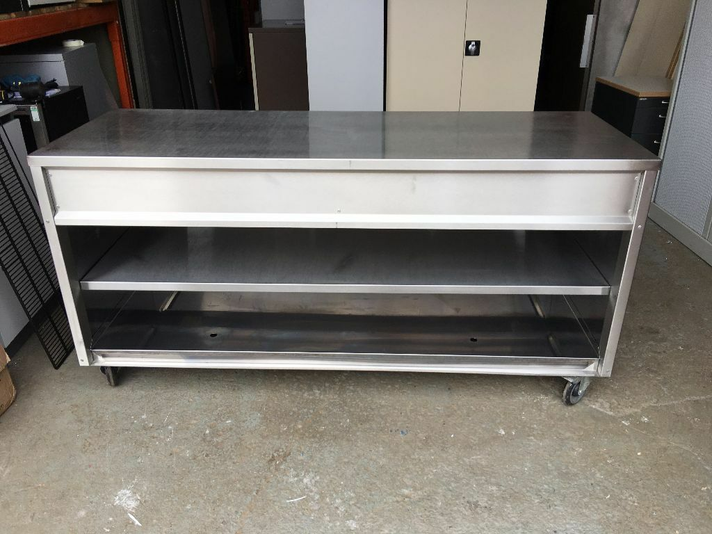 Stainless Steel Mobile Prep Table Serving Counter 1800mm