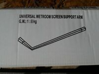 Universal Wetroom Shower Glass Support Arm Bar up to 1000mm for 6 8 10 mm Screen