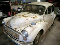 Original barn find Morris minor 1970 . Classic vintage . Restoration