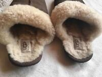 Ugg leather slippers men's size 8,5 used £5