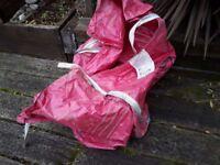 Large empty garden waste / building waste / building materials storage bulk bag