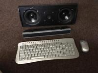 Speakers keyboard mouse
