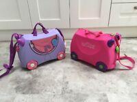 2 x kids Trunki suitcases