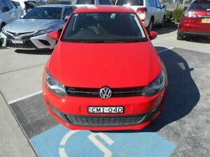 2012 Volkswagen Polo 6R MY13 77 TSI Comfortline Red 7 Speed Auto Direct Shift Hatchback Singleton Heights Singleton Area Preview