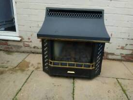 Gas fire used