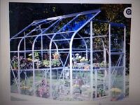 8' x 6' greenhouse. Already dismantled. Frampton Cotterell. Buyer collects. Some panes broken.
