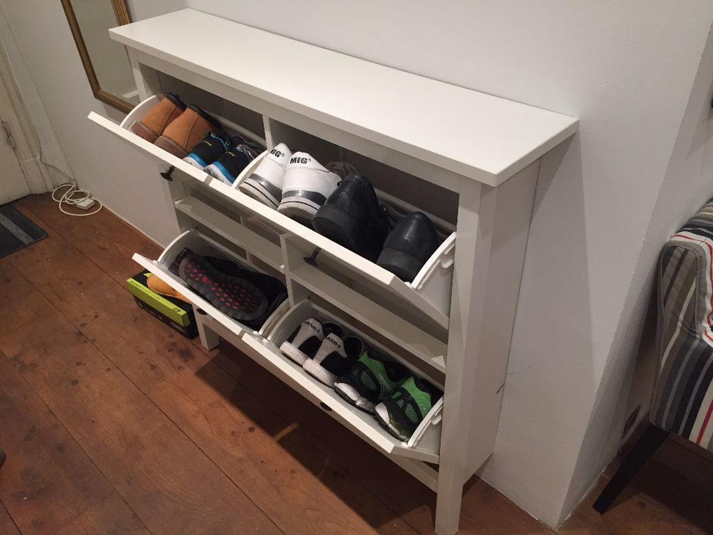 Ikea Shoe Rack Ikea Hemnes Shoe Cabinet With 4 Compartments White Almost New