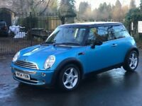 MINI HATCH 1.6 COPPER, 2005 (54 PLATE) HALF LEATHER, NEW MOT, EXCEPTIONAL EXAMPLE ,LOTS OF EXTRAS