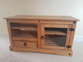 Corona Solid Pine TV Entertainment Unit Cabinet HiFi Desk