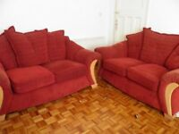 2 MATCHING LUXURY SOFAS