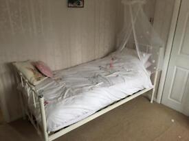 Next children's bed Ella metal frame cream