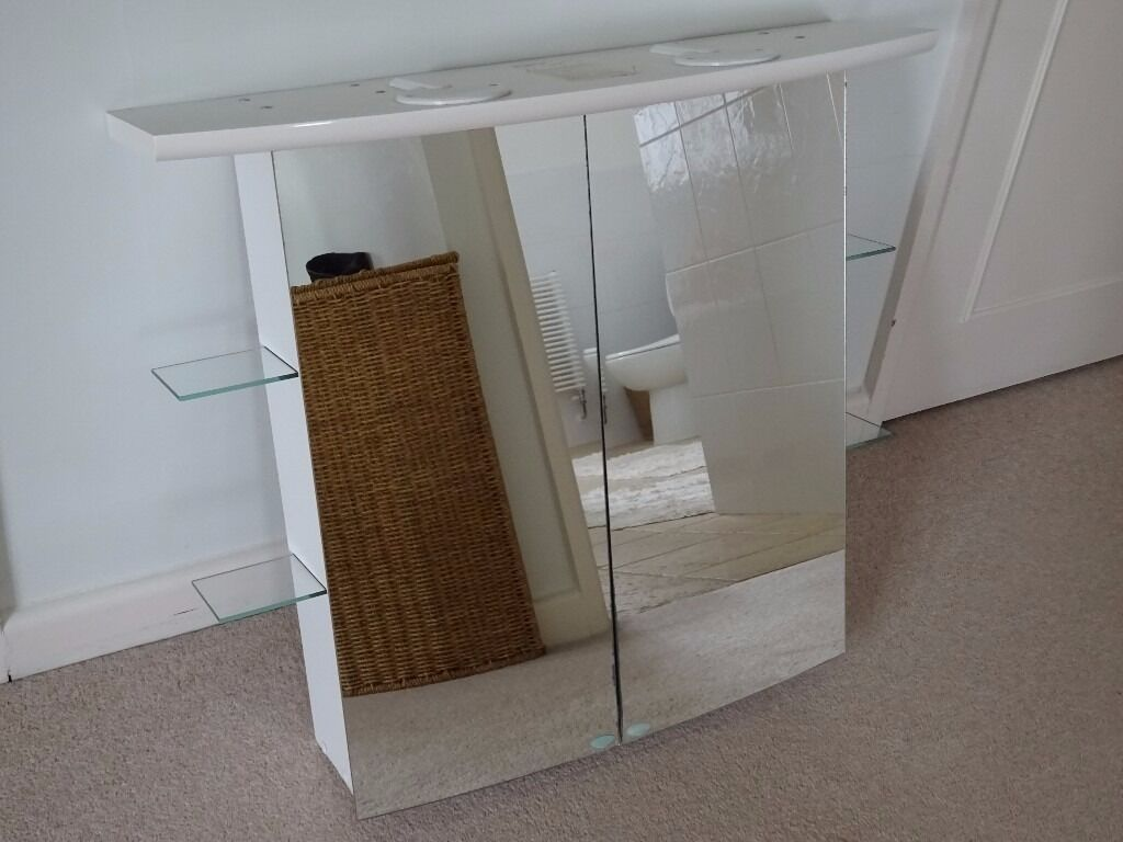 Bathroom Cabinet With Shaver Point Allibert Bathroom Cabinet With Double Sided Mirror Doors 2 Lights
