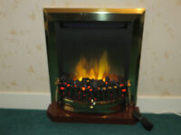 Dimplex Exbury Electric Fire, Real Coals, Remote control. As new.