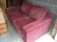 Sofa Bed - Plum Colour