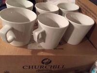 New & Unused - Cafe Latte Mugs (Box of 12) - 568ml/ 20oz - Free Postage