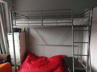 Metal Single High Sleeper Bed