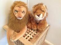 Two Plush Lion Toys