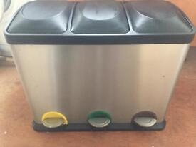 Stainless silver bin