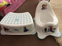 Brand new frozen potty and footstool