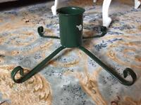 Green iron Christmas tree stand