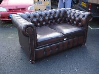 Two Chesterfield Settees