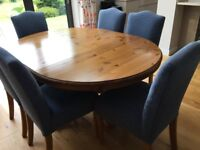 Ducal Victoria Pine Dining Table and 6 Chairs