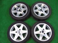 """SMART FORTWO 15"""" inch ALLOY WHEELS SILVER"""