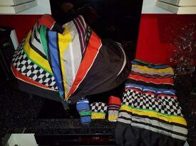 Mamas & Papas Armadillo fabrics in Stripe limited Edition